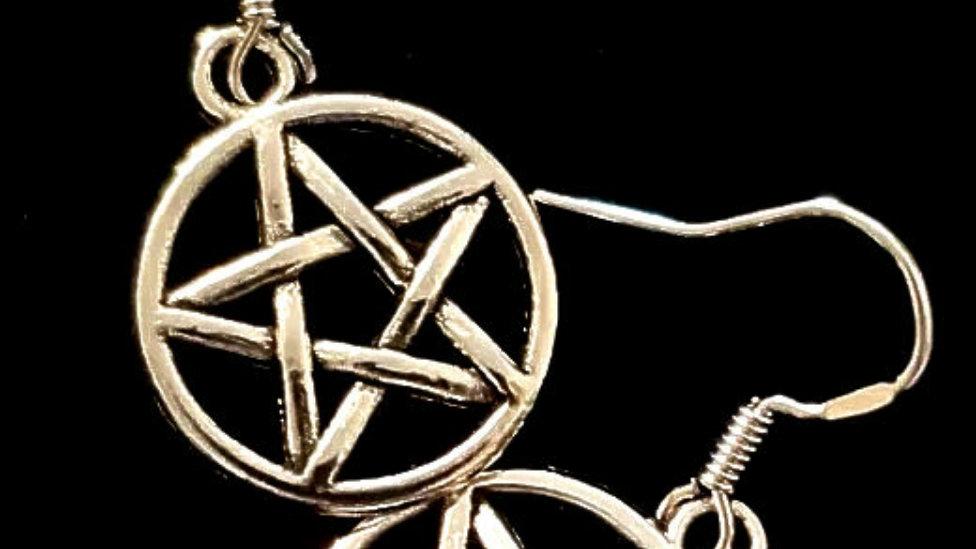 Pentagram earrings (925)