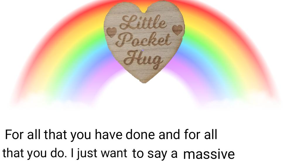 Pocket hug-personalised text/design