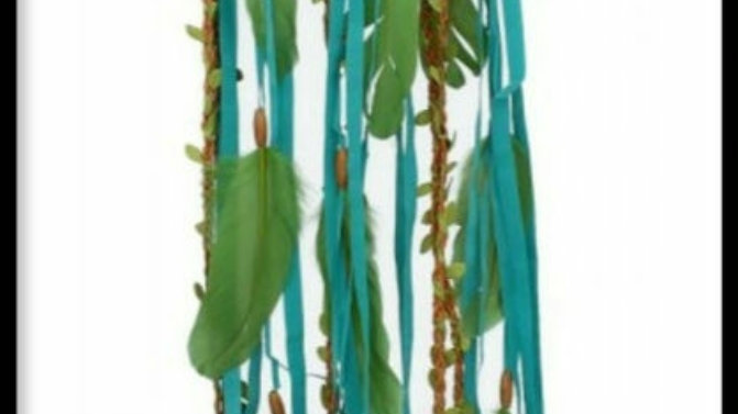Green butterfly dream catcher  91cm