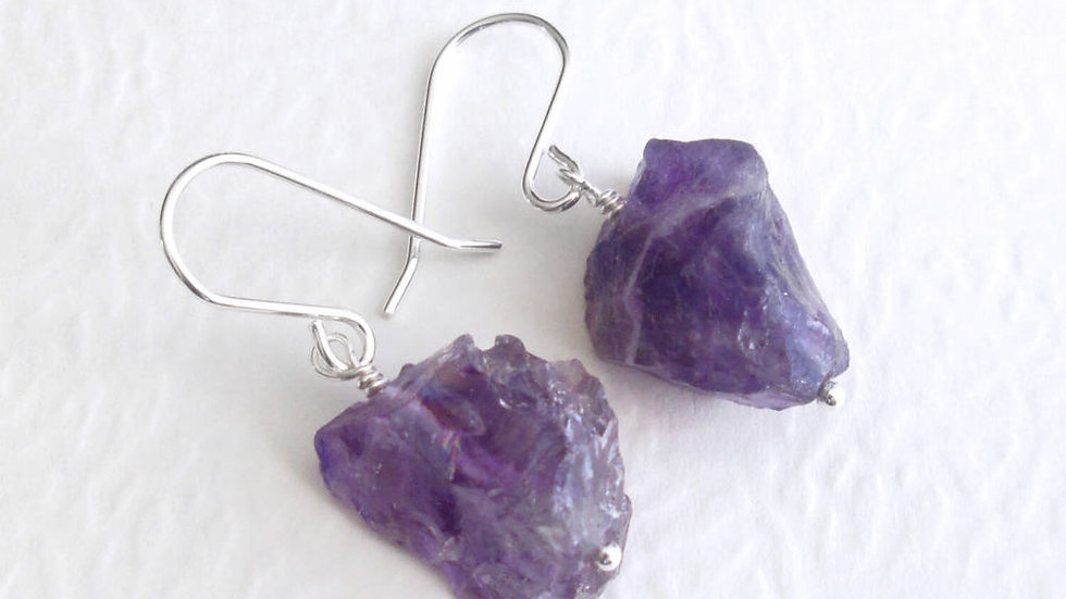 Amethyst earrings 925 silver