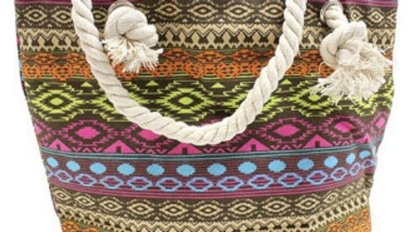 Bali tones rope handled bag