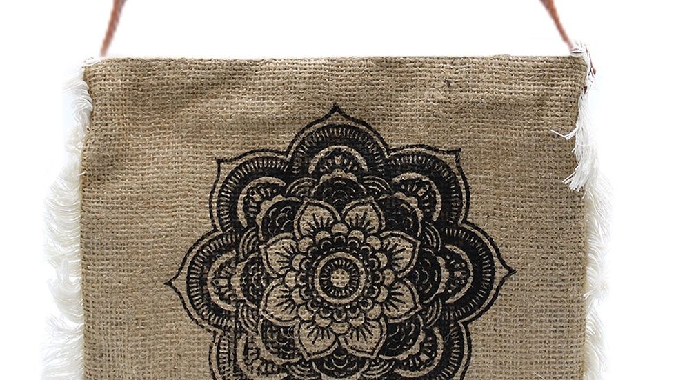 Hessian bag  patterned