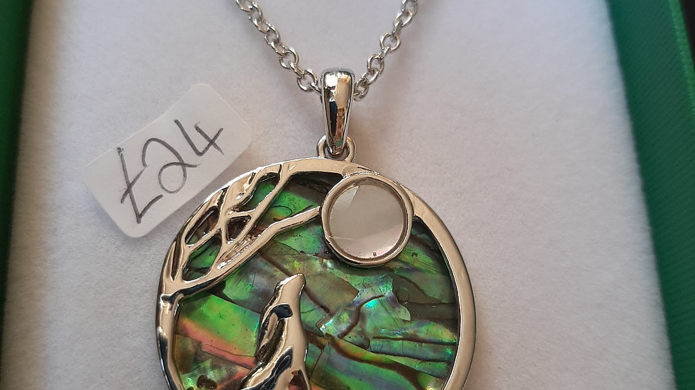 Hare moon tide necklace (925 silver)