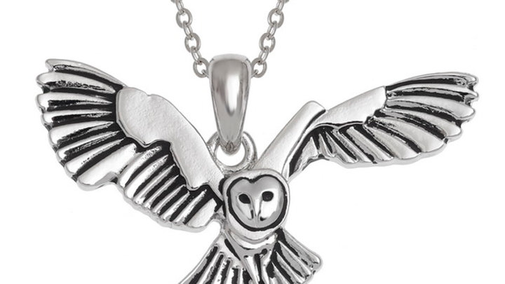 flying Barn Owl pendant