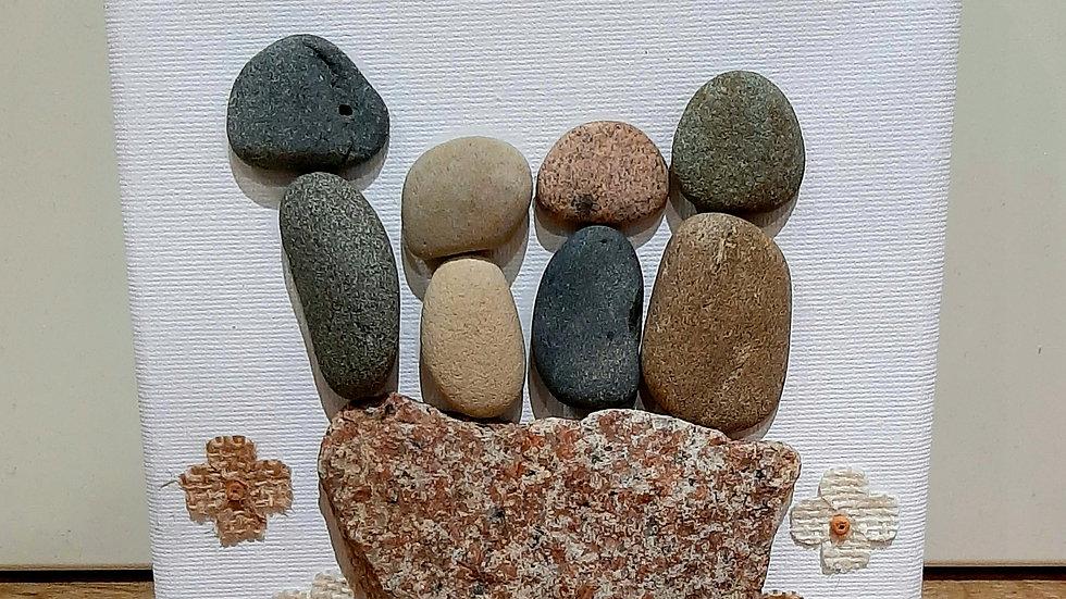 """""""Restful rock"""" pebble art."""