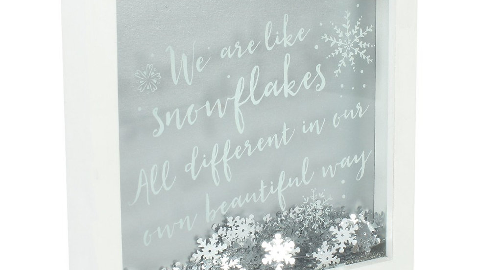"""Were are like snowflakes"" frame"