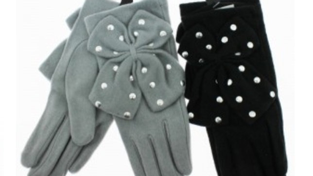 Dimonte bow detail gloves