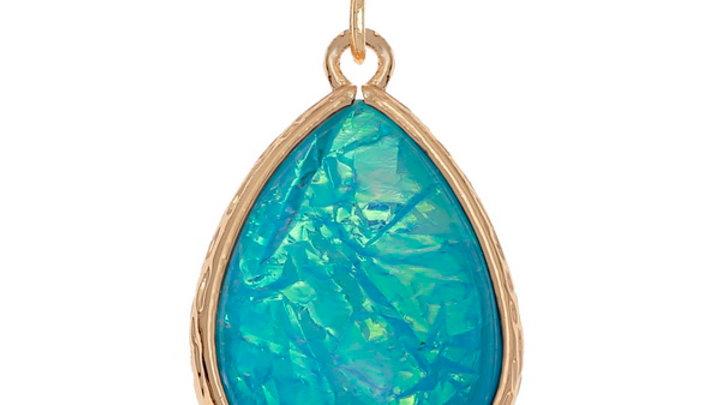 light blue opalescent Teardrop pendant