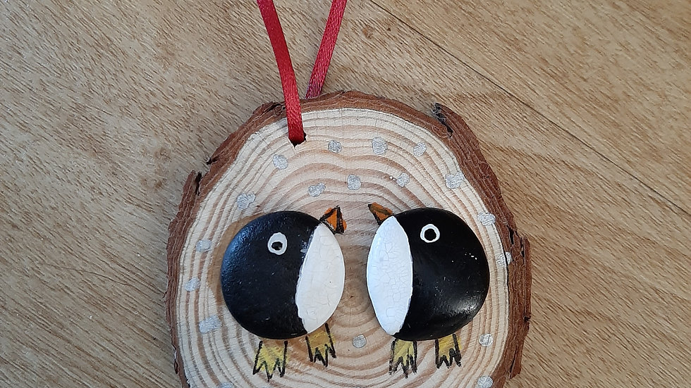 Handmade penguin decoration