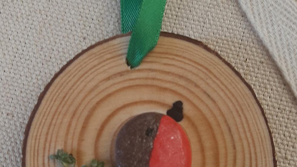 Handmade Robin hanging ornament.