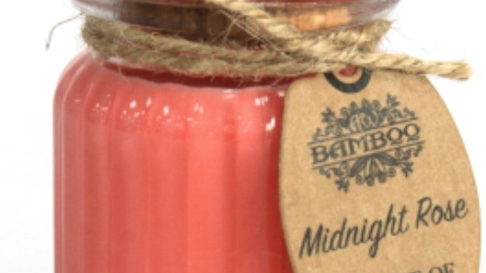 Midnight rose soy fragranced candle