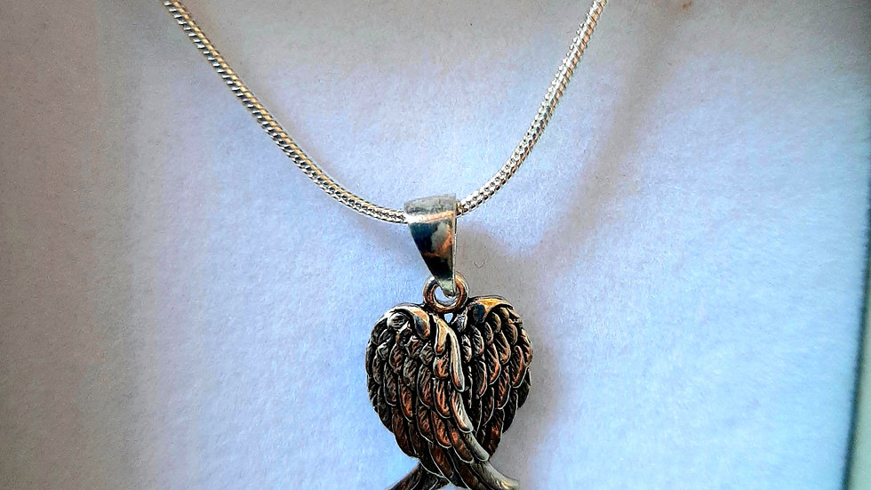 925 Angel wing necklace
