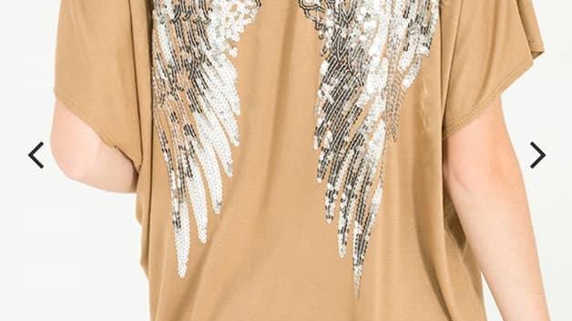 Short sleeved Angel wing tops