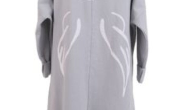 Light grey angel wings hooded jacket