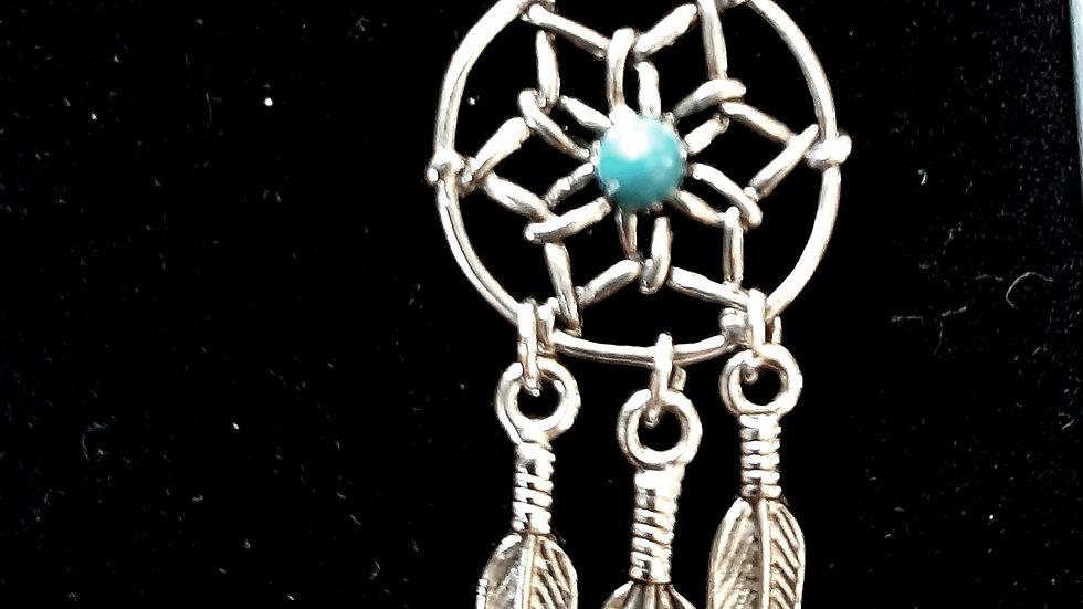 Wish dream catcher necklace