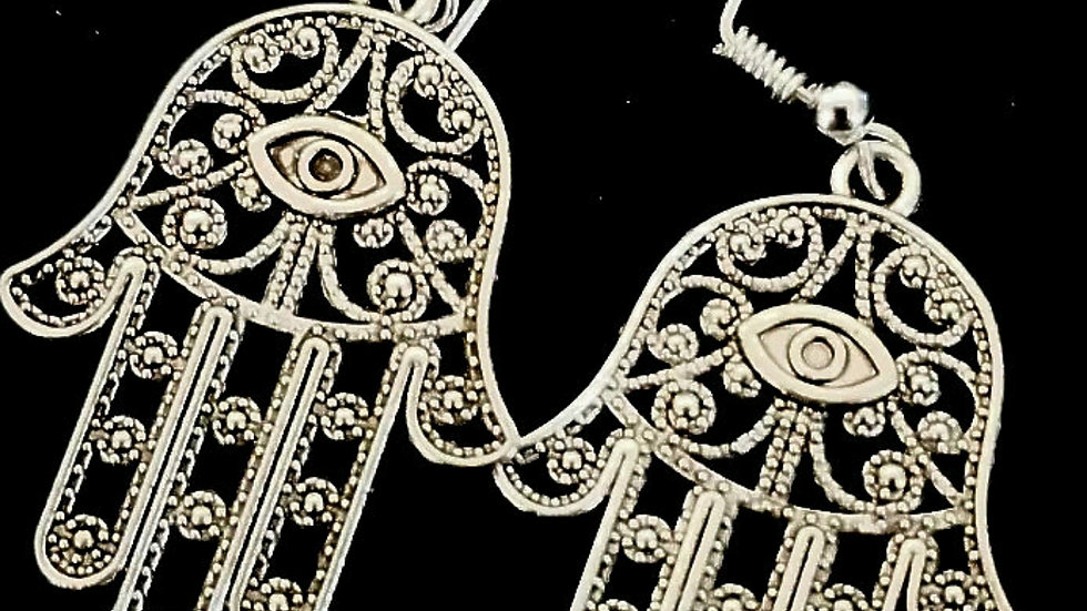 Hamsa earrings (925)