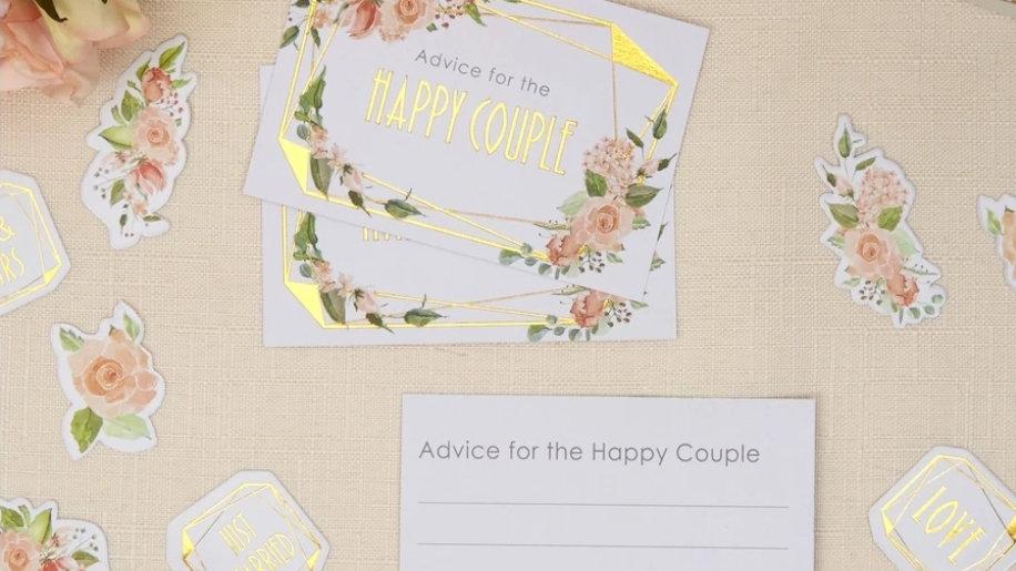 Wedding advice cards ( packs of 25)