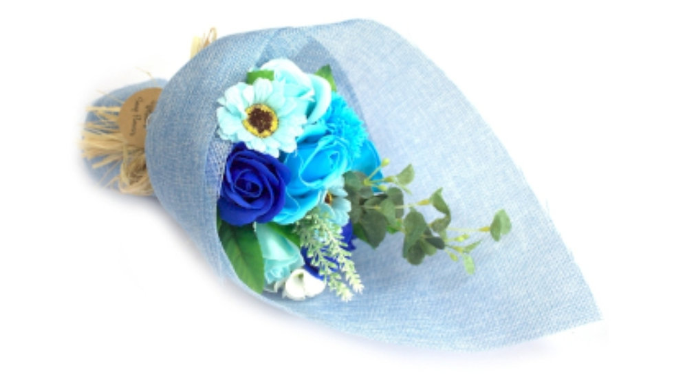 Standing soap flower bouquet-Blue