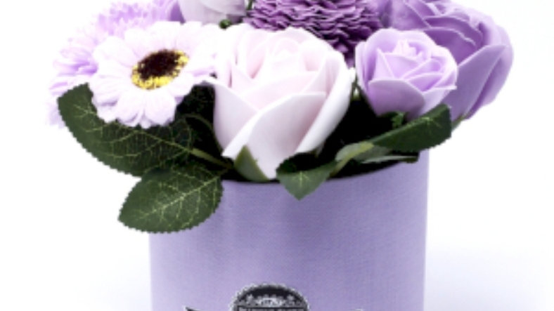 Soap flowers gift box- soft lavender