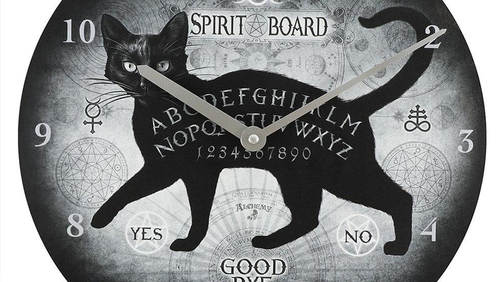 Spirit board clock (cat)