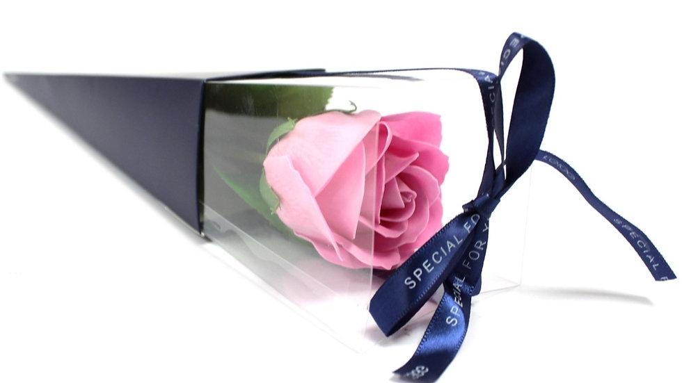 Single rose soap flower