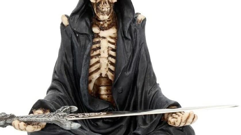 Nemesis now skeleton letter opener