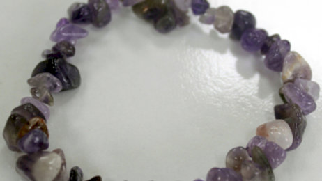 Amethyst chipstone bracelet