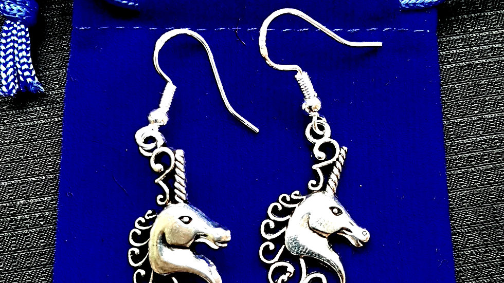 Unicorn earrings (925)