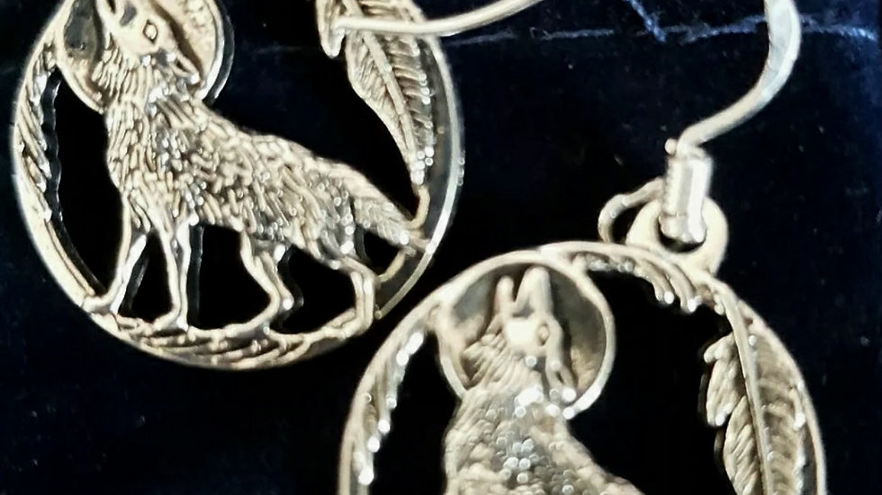 Wolf earrings (925)