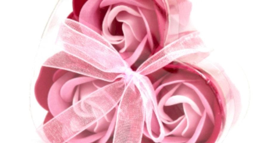 Set of 3 soap flowers (favours)