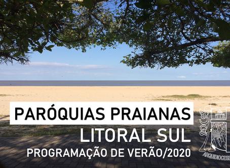 Programação das Paróquias do Litoral Sul
