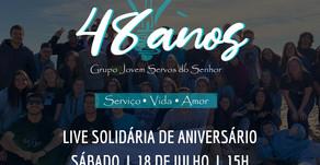 LIVE SOLIDÁRIA DE ANIVERSÁRIO  DO GRUPO JOVEM DA LUZ