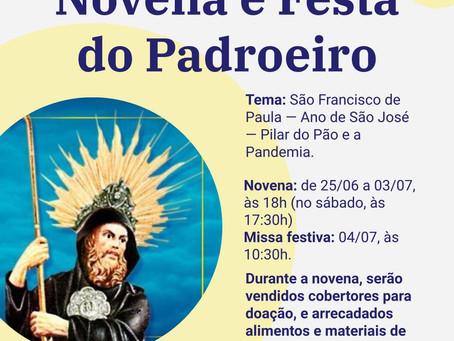 NOVENA E FESTA DE SÃO FRANCISCO DE PAULA