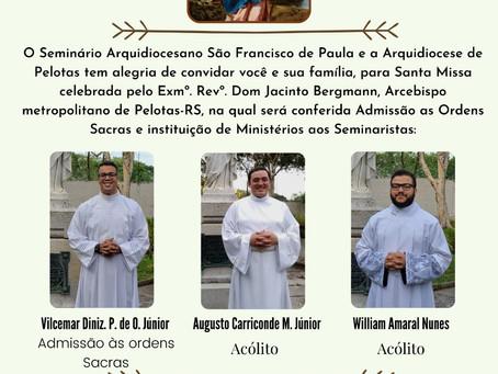 Missa de Admissão às Ordens Sacras e instituições de Ministérios de Acólitos