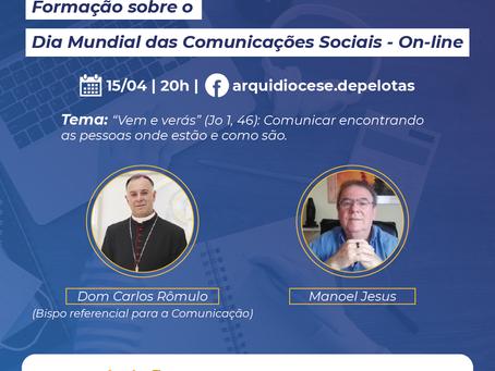 FORMAÇÃO SOBRE A MENSAGEM DO DIA MUNDIAL DAS COMUNICAÇÕES SOCIAIS