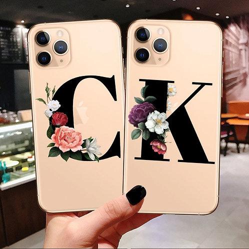 Custom Initial Floral Phone Case