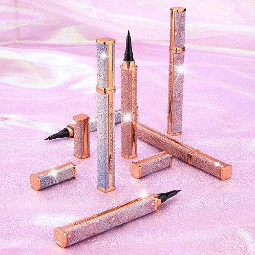 New Quick-Dry & Waterproof Starry Galaxy Black Eyeliner Pen