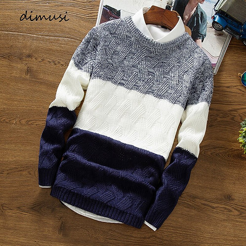 DIMUSI Knitted Wool Sweater