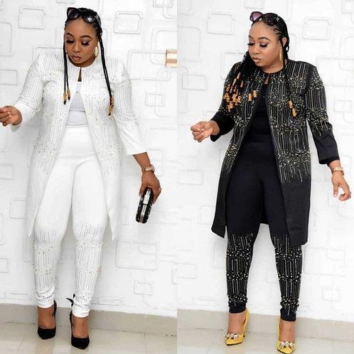 African Queen Sequined Suit