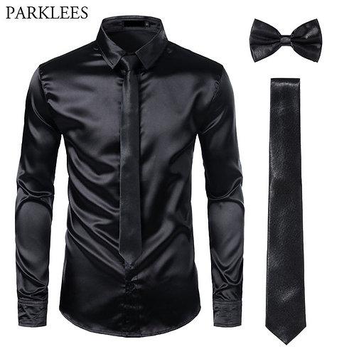 Men's Formal Style 3Pc (Shirt +Tie+Bowtie)