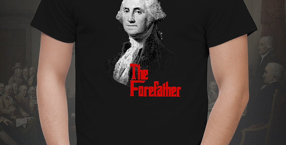 'The ForeFather' Black Jersey Sleeve Tee
