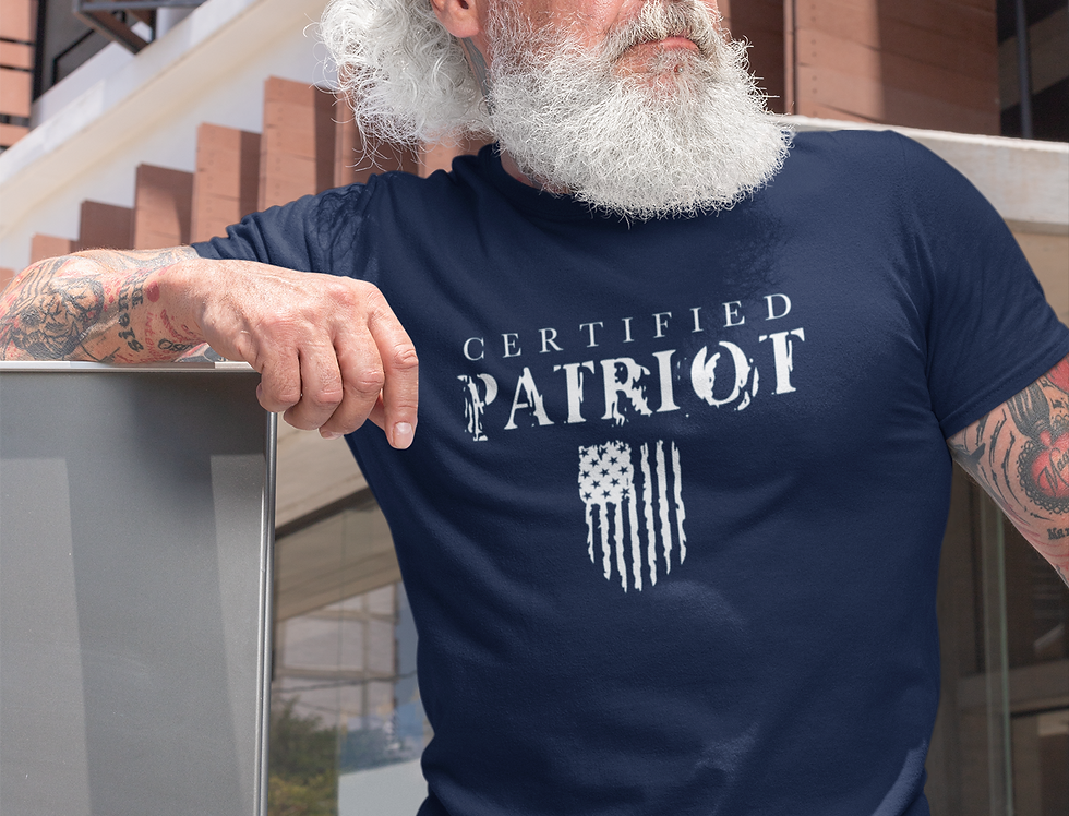 Certified Patriot -  Unisex Soft Tee (Multicolor)