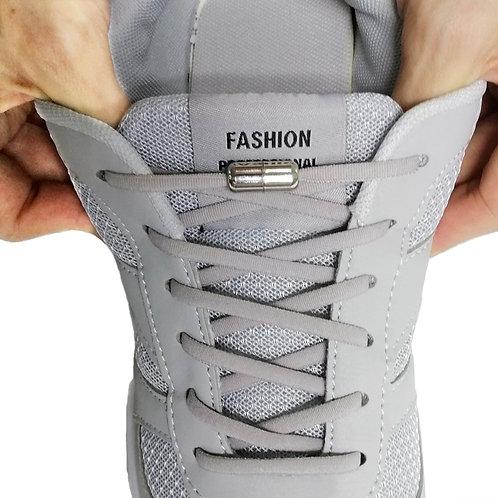 TILUSERO New No-Tie Elastic Shoelaces Metal Capsule Button