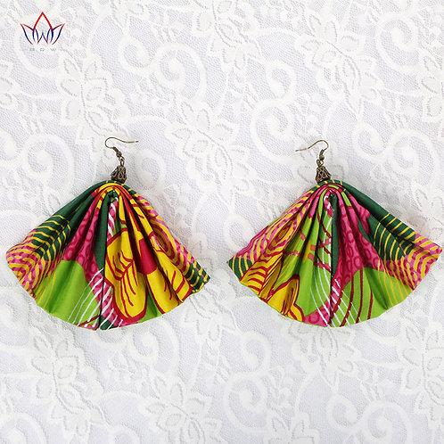 African Style Women's Fabric Earrings