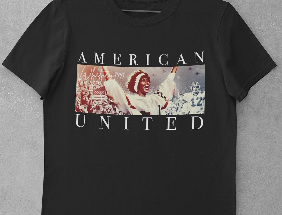American United Whitney Houston Circa 1991 T-shirt (Super Bowl XXV)