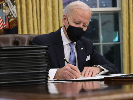 The 56 Executive Actions Biden Has Signed in the first month!