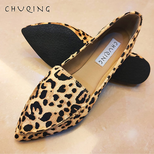 Wild and Chic Print Loafers