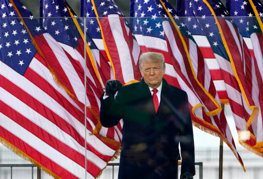 President Trump says 'We will be back' - goodbye (for now) at Joint Base Andrews.