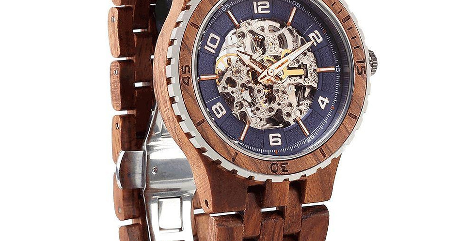 Men's Premium Self-Winding Transparent Body Kosso Wood Watches
