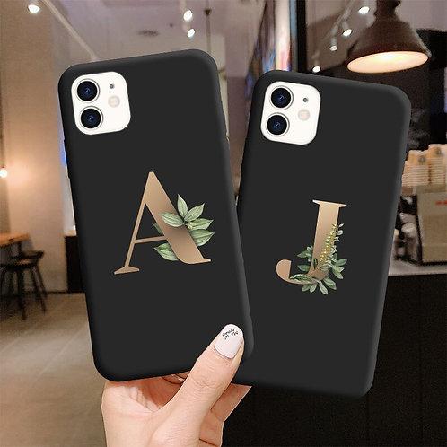 Custom Initial Silicone Phone Case